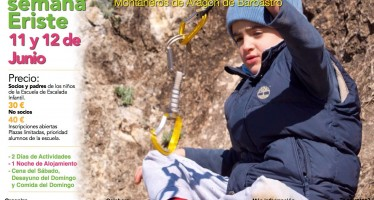Fin de curso de la Escuela infantil de escalada en Eriste