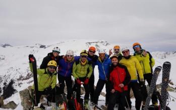 Finalizó con éxito el curso de esquí de montaña