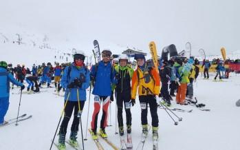 El equipo MAB de esquí de montaña en el Campeonato de España de Candanchú