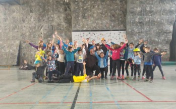 Encuentro infantil de escalada en Huesca