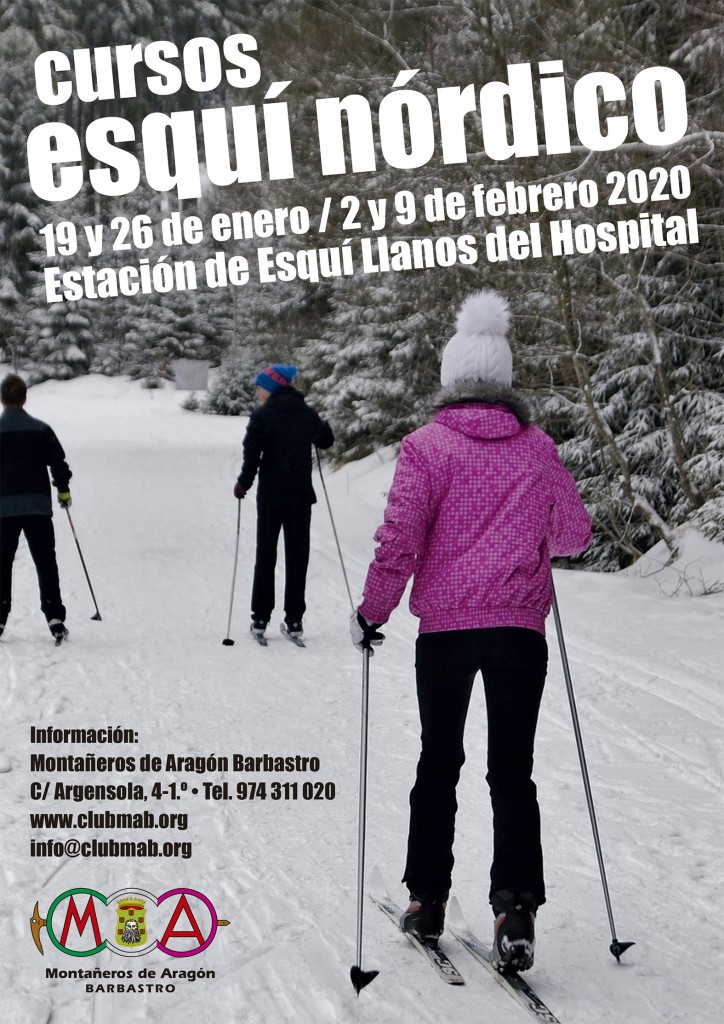 Cartel Curso Esquí de fondo Montañeros 2020