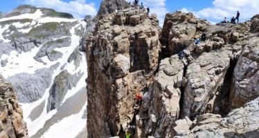 Actividad de Alta Montaña.  Ascensión a los Mallos de Lecherín