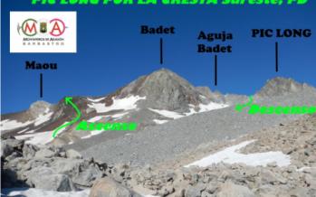 ACTIVIDAD DE ALTA MONTAÑA. Ascensión al PIC LONG 3.192 m. por la cresta Sureste